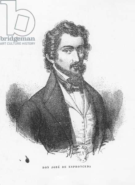 Don José de Espronceda (engraving)