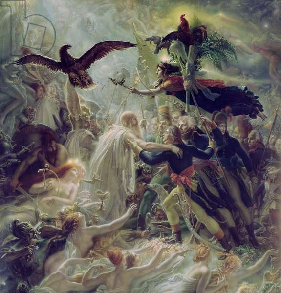 The Apotheosis of the French Heros Who Died for Their Country During the War for Freedom, 1800-1802 (oil on canvas)