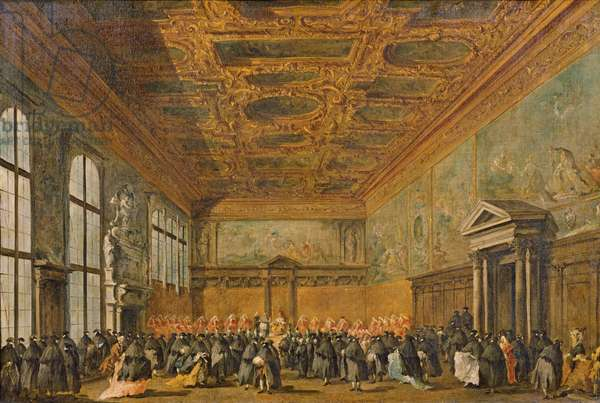 Audience Granted by the Doge of Venice in the College Room of Doge's Palace, c.1766-70 (oil on canvas)