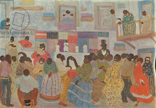 Dancers in Haiti (oil on canvas)