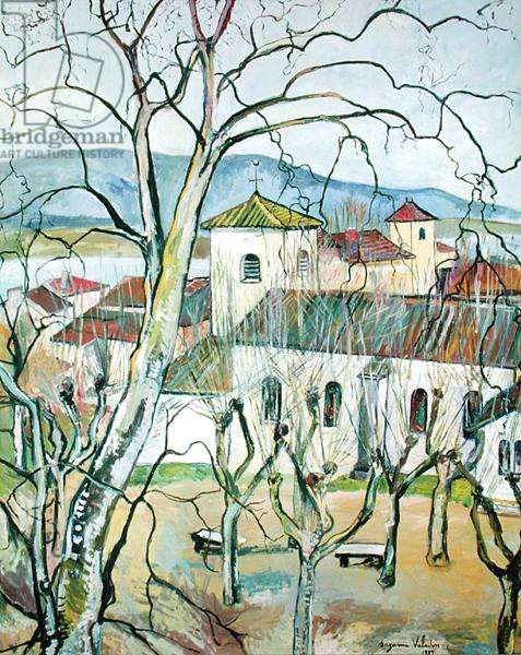 The Village of Saint-Bernard, Ain, 1929 (oil on canvas)
