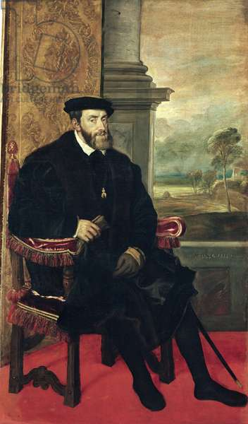 Seated Portrait of Emperor Charles V, 1548 (oil on canvas)
