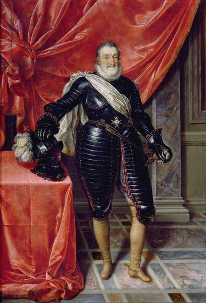 Henry IV, King of France, in armour, c.1610 (oil on canvas)