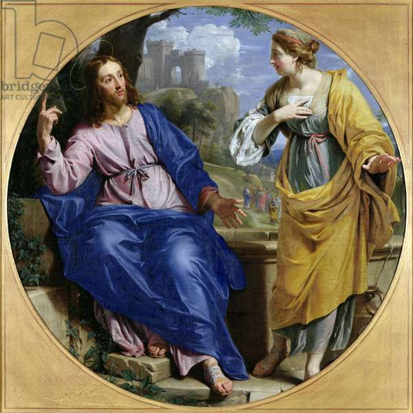 Christ and the Woman of Samaria at the Well, 1648 (oil on canvas)