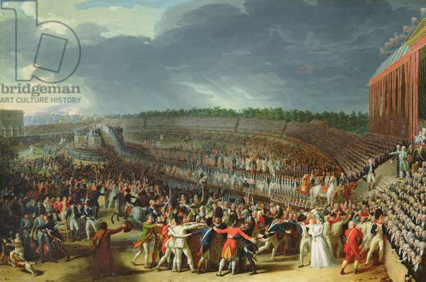 The Celebration of the Federation, Champs de Mars, Paris, 14 July 1790 (oil on canvas)