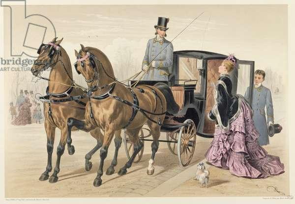English Horses (colour litho)
