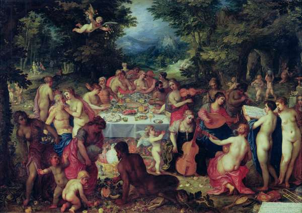 The Banquet of the Gods (oil on canvas)