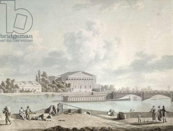 The Pont de la Concorde and the Facade of the Corps Legislatif, c.1809 (w/c on paper)