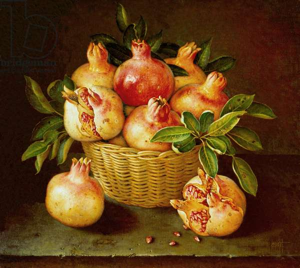 Basket of Pomegranates, 1992 (oil on canvas)