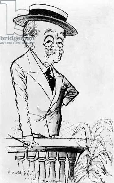 Caricature of Max Beerbohm, 1954 (ink on paper)
