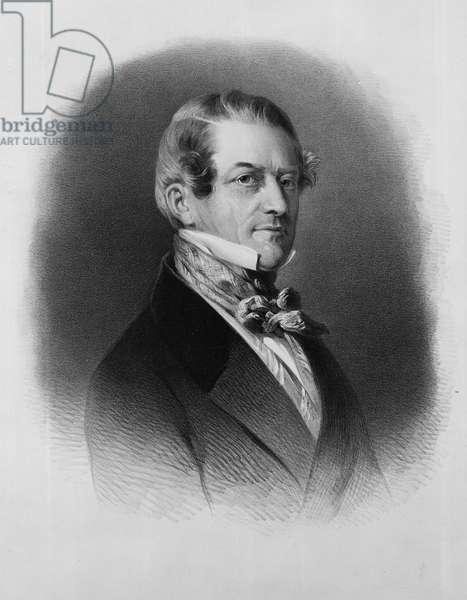 Christian Friedrich, Baron Stockmar, engraved by Thomas Fairland (litho)