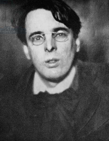 W.B. Yeats (b/w photo)