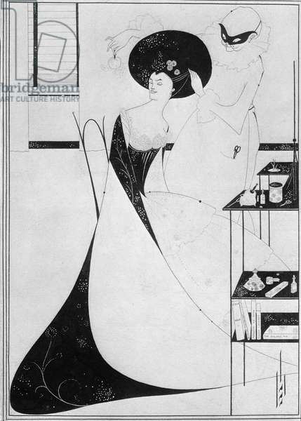 The Toilet of Salome, illustration for the English edition of Oscar Wilde's play 'Salome', 1894 (indian ink on paper)
