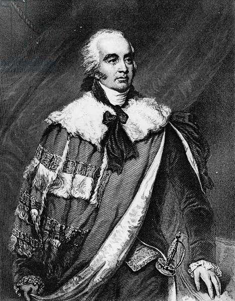 Portrait of Gilbert Eliot (engraving) (b/w photo)