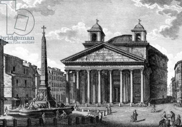 View of the Pantheon, Rome, c.1810 (engraving)