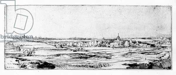 The Goldweigher's Field near Haarlem, 1651 (etching)