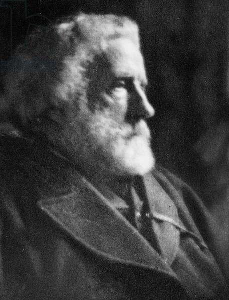 George Meredith, 1904 (b/w photo)