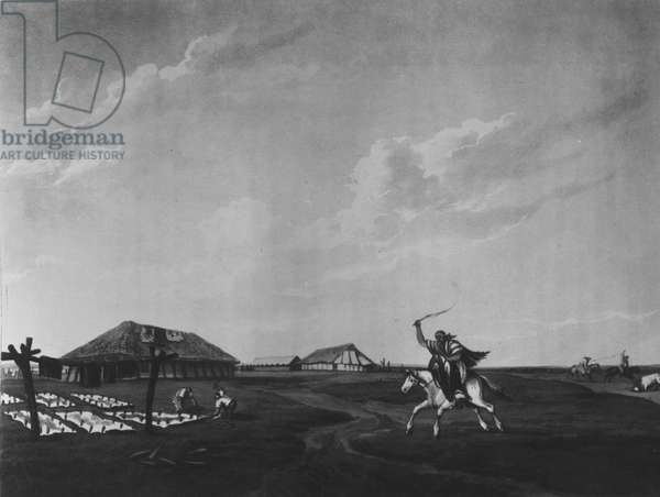 Estancia (farm) on the River San Pedro, engraved by Maile and Sutherland, 1820 (litho) (b/w photo)