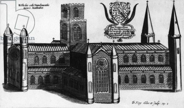 The Southern Exterior of Durham Cathedral,1660 (etching)
