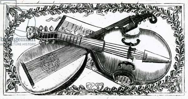 Musical instruments (engraving)