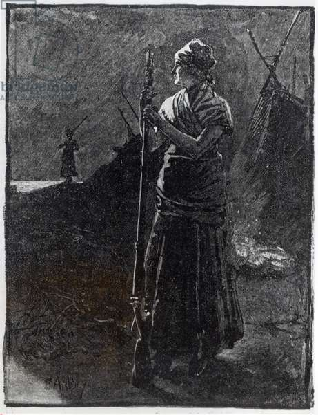 A Red River Colonist, 1878 (engraving) (b&w photo)