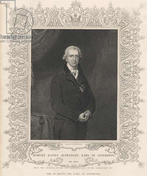 Robert Banks Jenkinson, 2nd Earl of Liverpool (engraving)