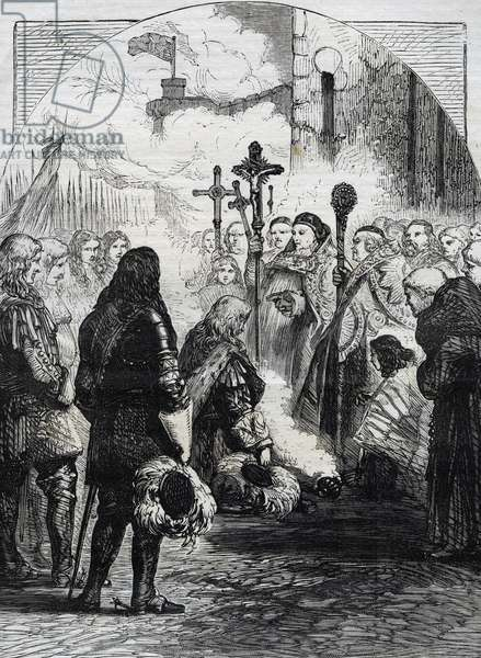 Reception of James II in Dublin, published in 'Cassell's Illustrated History of England, vol IV', 1874 (engraving)