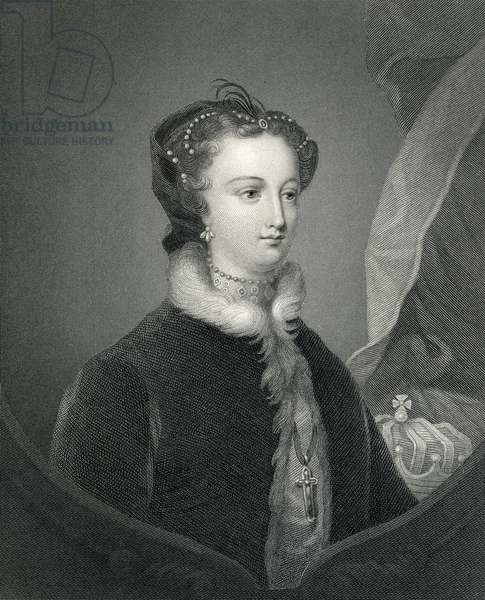 Mary Queen of Scots, 19th Century (engraving)