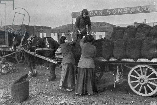 Women as Coal Workers, War Office photographs, 1916 (b/w photo)