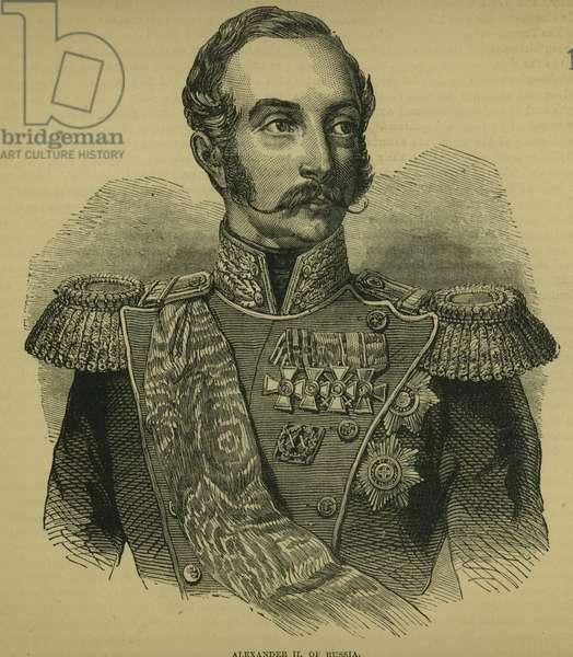 Alexander II (1818-81) of Russia (engraving)
