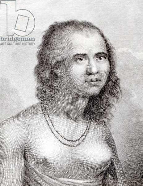 A Woman of Eaoo (engraving) (b/w photo)