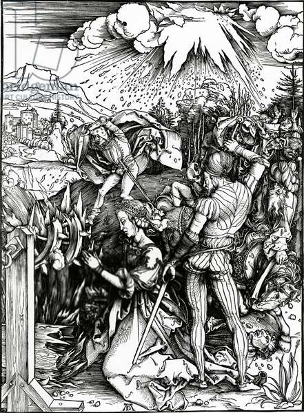 The Martyrdom of St. Catherine (woodcut)