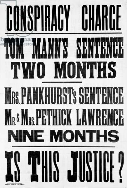 Suffragette hand bill and poster, c.1912
