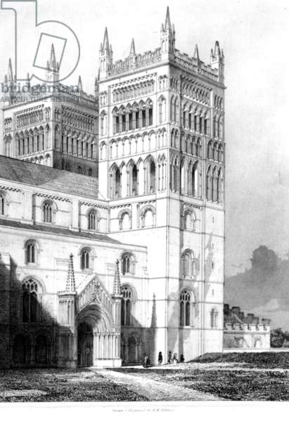 Durham Cathedral, 1843 (engraving)