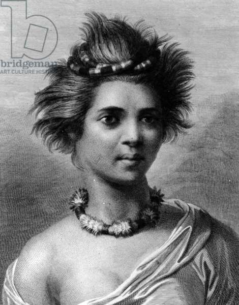 A Young Woman of the Sandwich Islands, illustration from 'A Voyage to the Pacific', engraved by John Keyse Sherwin, 1784 (engraving)