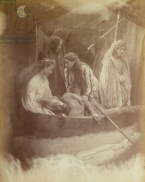 The Passing of King Arthur, Illustration from 'Idylls of the King' by Alfred Tennyson, 1874 (carbon print)