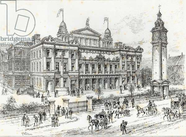 Completed buildings of the People's Palace, Mile End Road, East London, from 'The Illustrated London News', 27th June 1891 (engraving)
