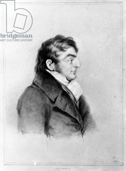 Portrait of Joseph Mallord William Turner, 1841 (chalk, wash and pencil on paper)