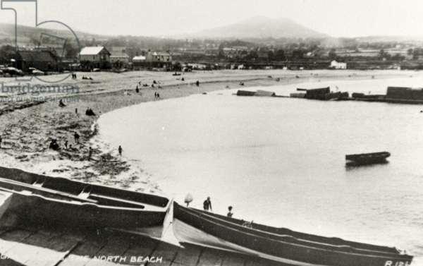 North Beach, Greystones, Ireland, c.1940 (b/w photo)