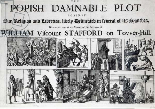 The Popish Damnable Plot Against Our Religion and Liberties, 1680 (printed paper)