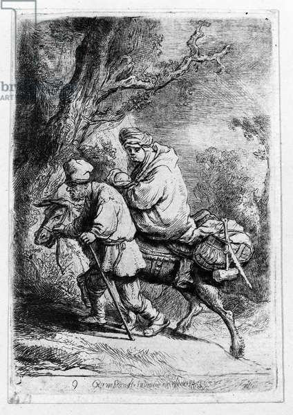 The Flight into Egypt, 1633 (etching)