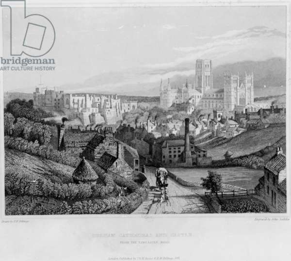 Durham Cathedral and Castle from Newcastle Road, 1841 (engraving)