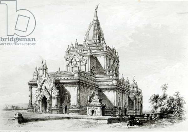 North Eastern view of Gaudapalen Temple at Pagan (engraving)