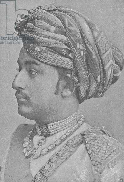 Khengarji III, Maharao of Cutch (engraving)
