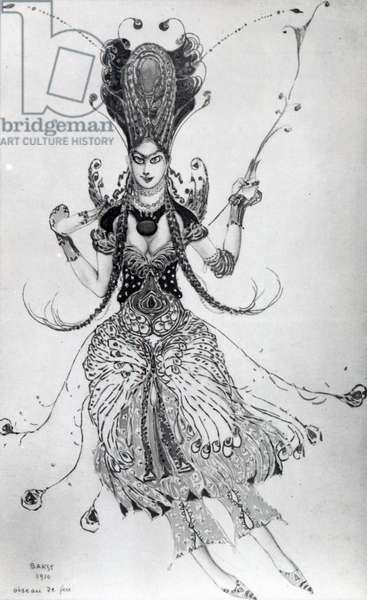 Costume design for 'The Firebird', 1910 (w/c on paper)