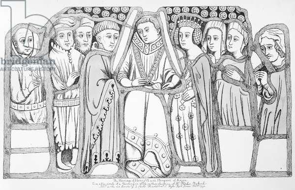 The Marriage of Henry VI and Margaret of Anjou, pub. by J. Carter Hamilton, 1793 (litho)