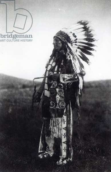 High Hawk, from 'The North American Indian', 1907 (photogravure) (b&w photo)