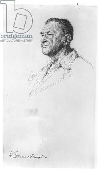 William Somerset Maugham (1874-1965) (pencil on paper)