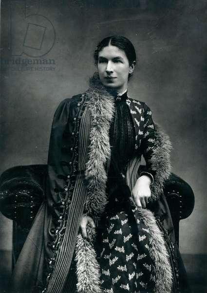 Mrs Humphry Ward, 1881 (b/w photo)