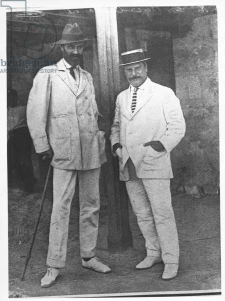 Roger Casement with the boss of the Peruvian Amazon Company, c.1904 (b/w photo)